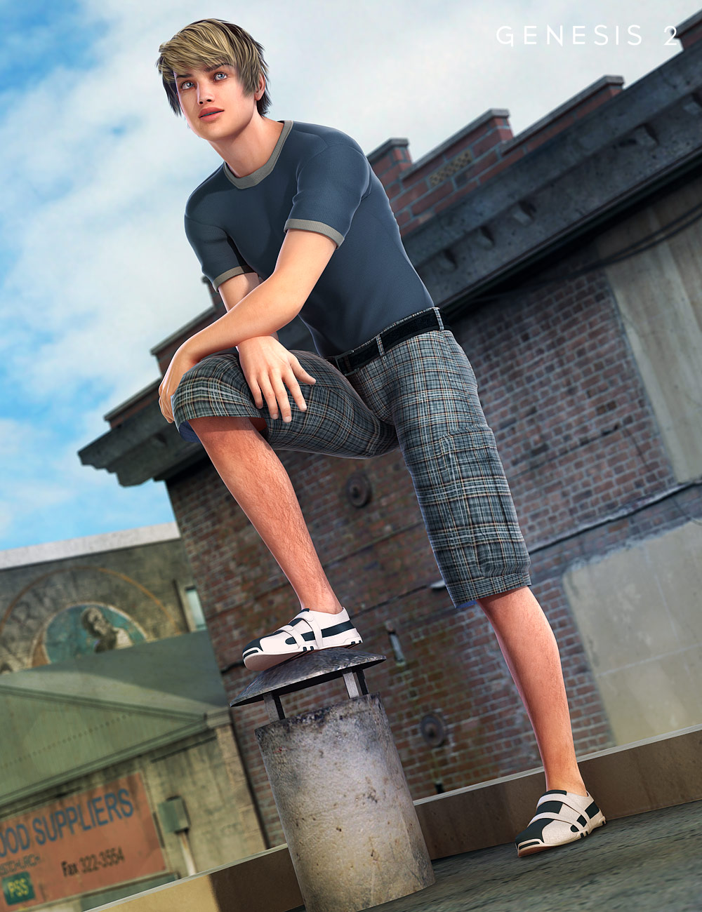 Parkour Wear for Genesis 2 Male(s) by: SarsaXena, 3D Models by Daz 3D