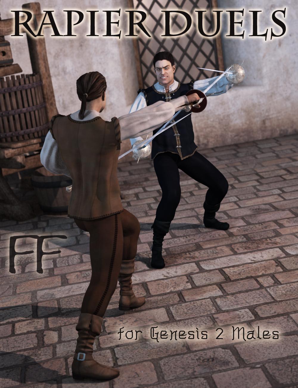 Rapier Duels for Genesis 2 Male(s) by: FeralFey, 3D Models by Daz 3D