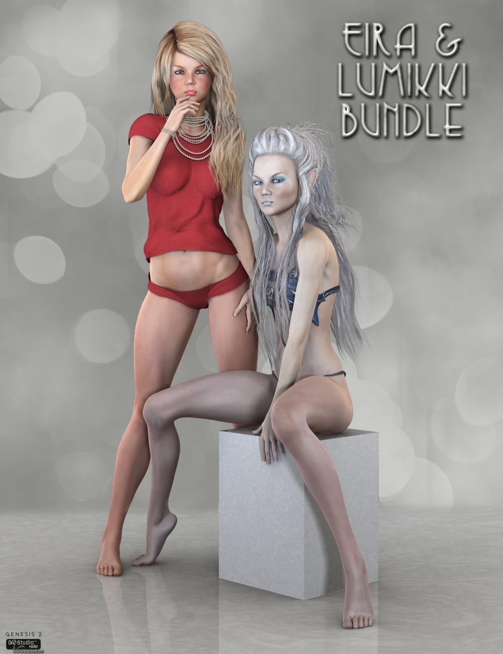 LY Eira and Lumikki Bundle by: Lyoness, 3D Models by Daz 3D