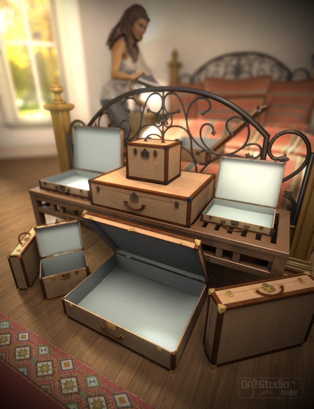 Vintage Luggage by: SloshWerks, 3D Models by Daz 3D