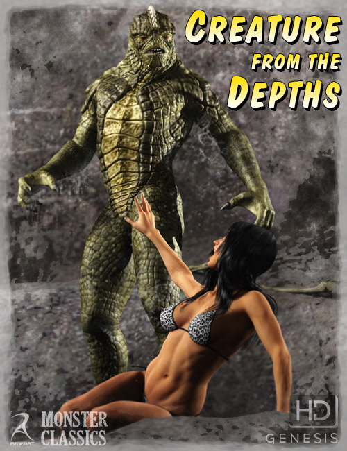 Creature from the Depths HD by: RawArt, 3D Models by Daz 3D