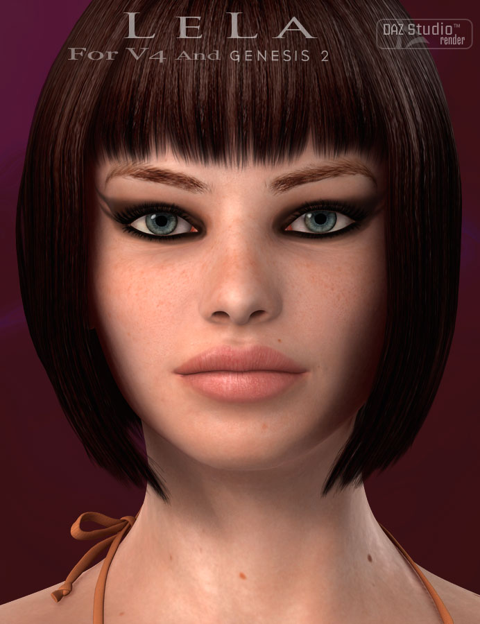 Lela For Victoria 4 and Genesis 2 Female(s) by: Aako, 3D Models by Daz 3D