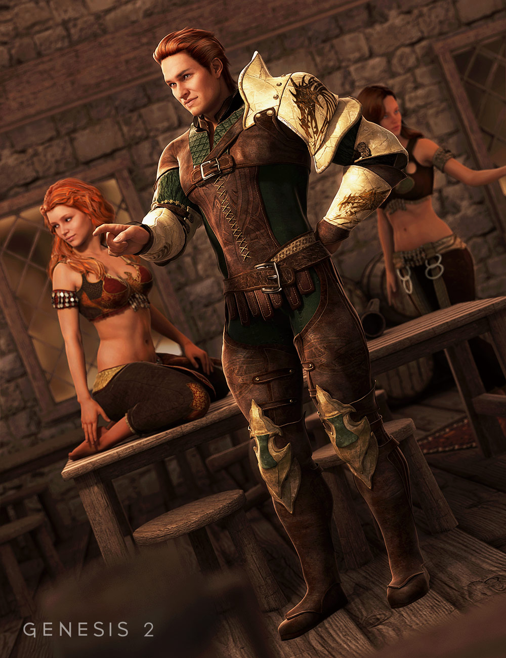 Darkwoods Hero for Genesis 2 Male(s) by: Barbara BrundonSarsa, 3D Models by Daz 3D