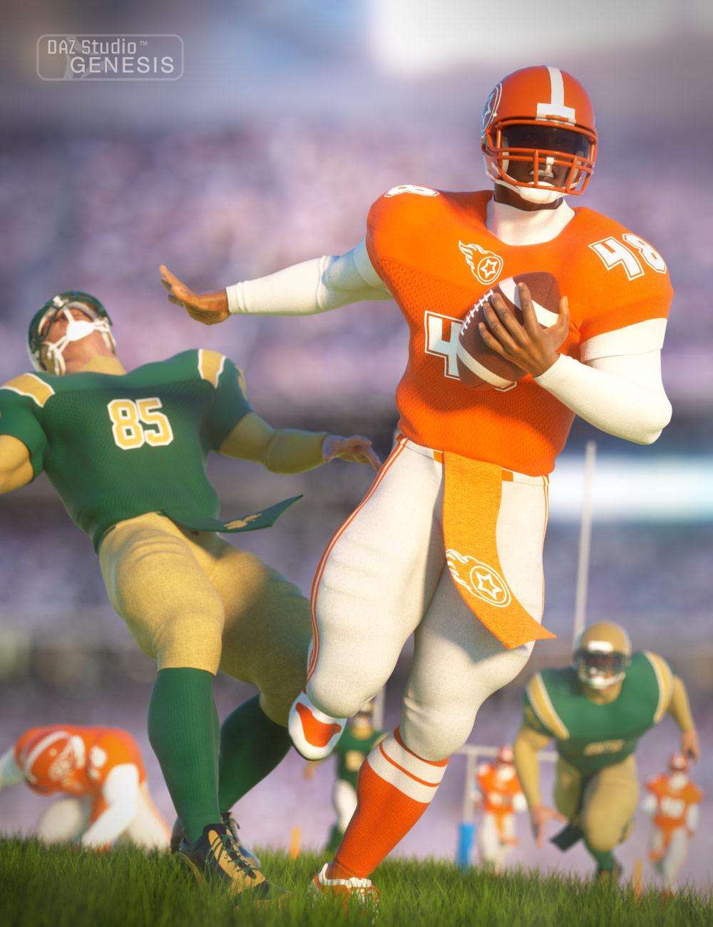 Football Uniform Textures by: Sarsa, 3D Models by Daz 3D