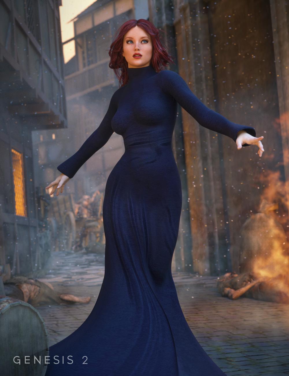Morphing Fantasy Dress for Genesis 2 Female(s) by: JGreenleesRavenhair, 3D Models by Daz 3D
