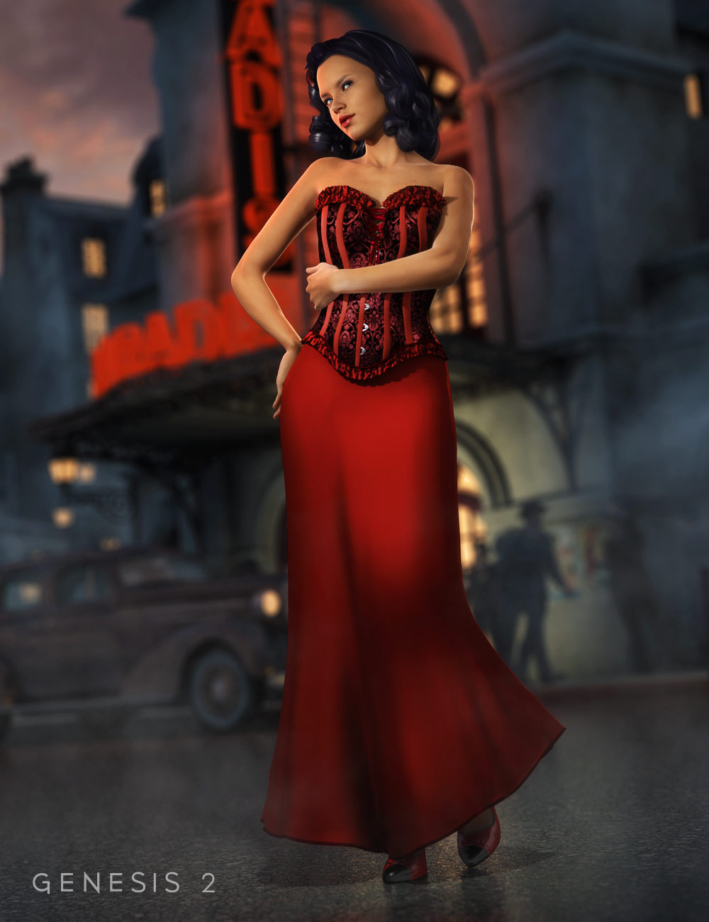 Isolabella Dress by: EmmaAndJordi, 3D Models by Daz 3D