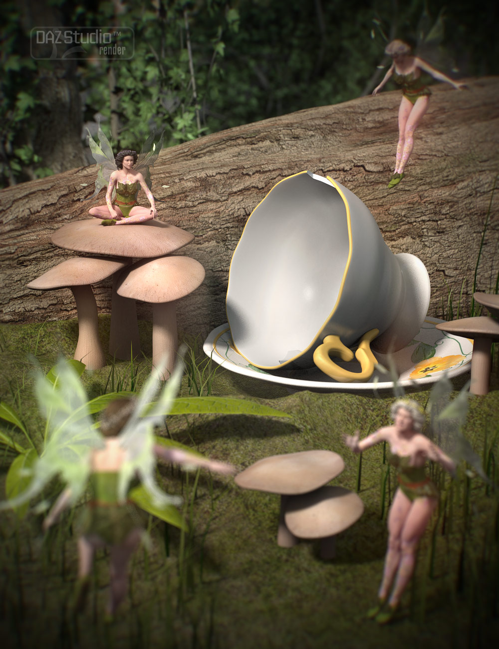 Outside the Rabbit Hole by: ARTCollabUmblefugly, 3D Models by Daz 3D