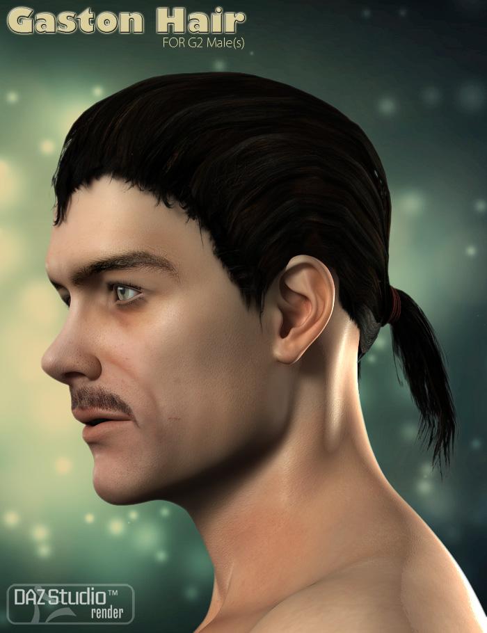 Gaston Hair for Michael 6 by: ForbiddenWhispersFeralFey, 3D Models by Daz 3D