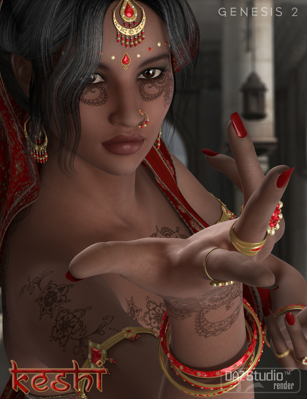 Keshi - Indian Character, Accessories and Poses Bundle by: SabbyFred Winkler ArtFisty & DarcSedor, 3D Models by Daz 3D