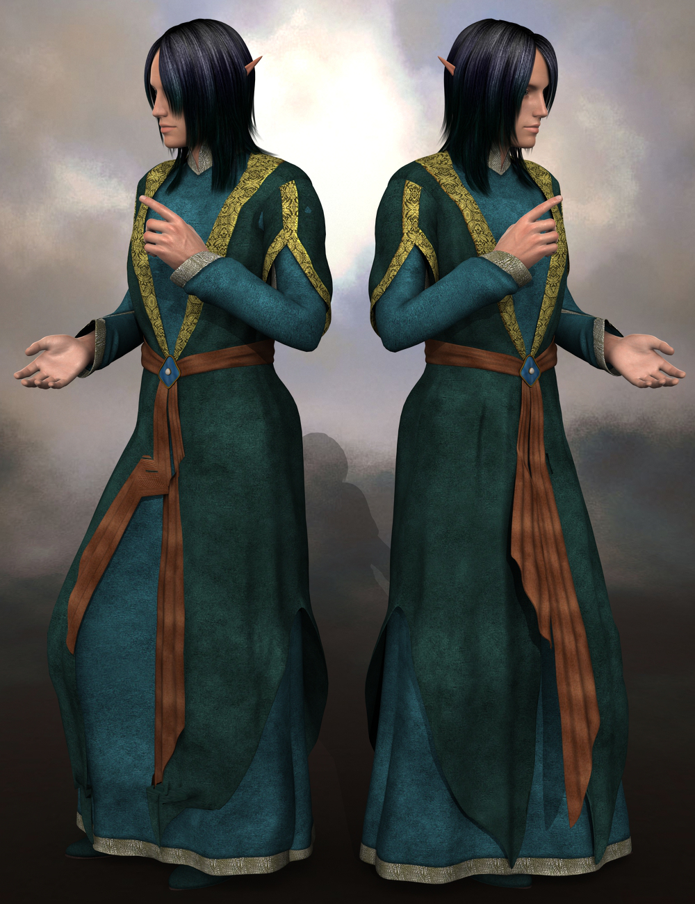Sickle Tunic Rig Genesis 2 Male(s) by: Sickleyield, 3D Models by Daz 3D