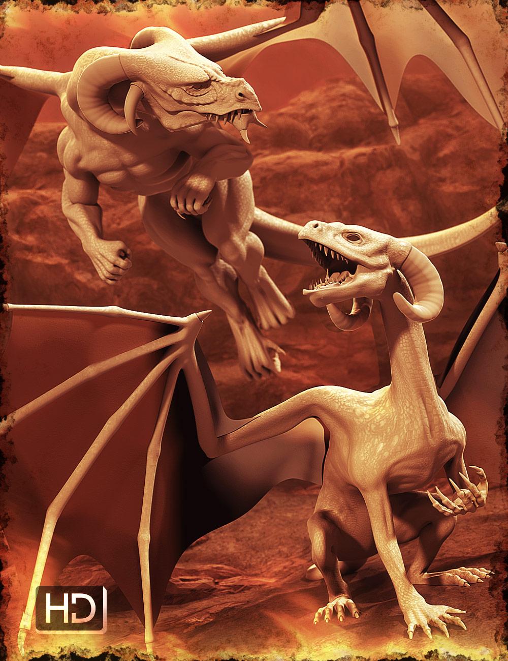 DAZ Dragon 3 Morphs by: , 3D Models by Daz 3D