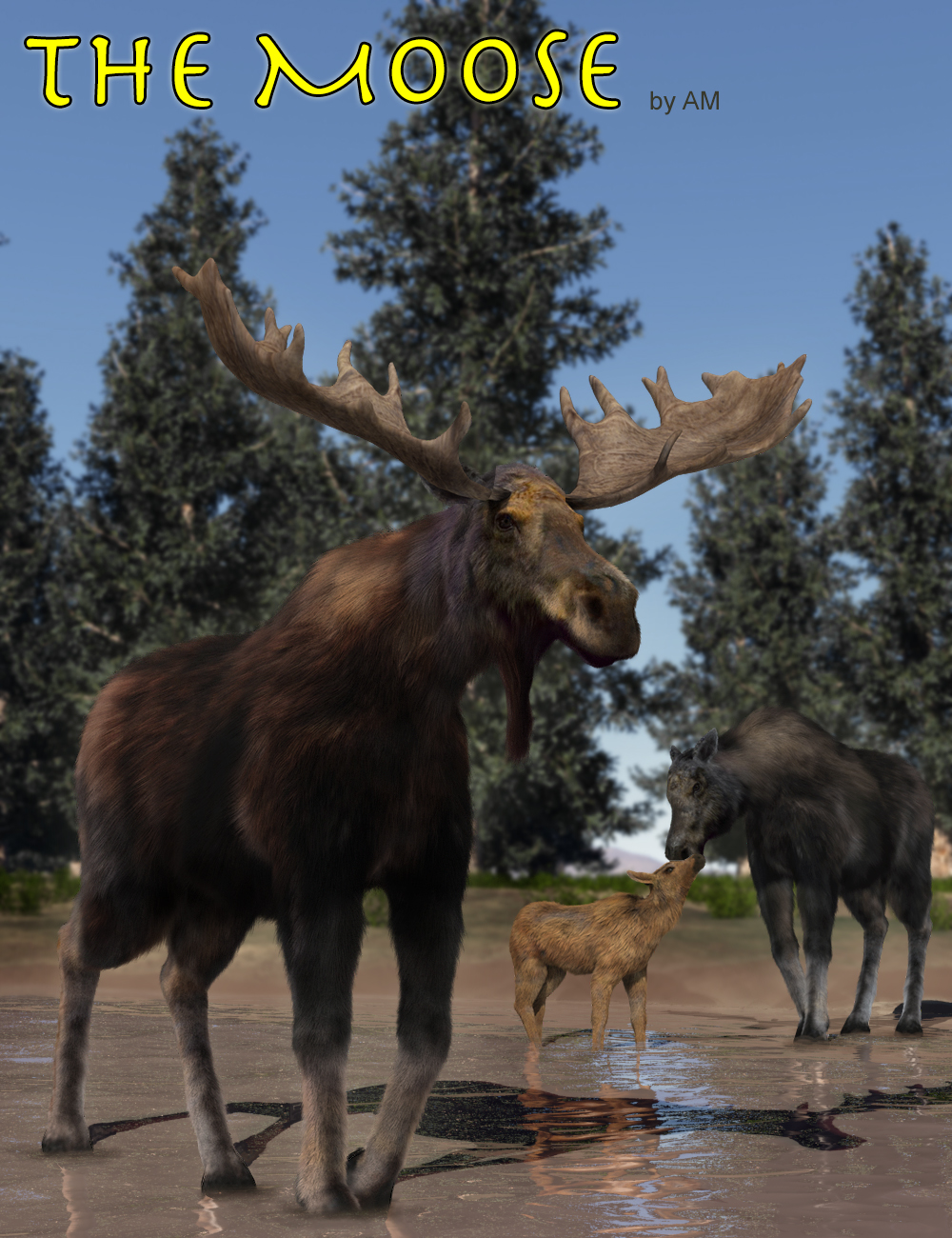 The Moose by: Alessandro_AM, 3D Models by Daz 3D