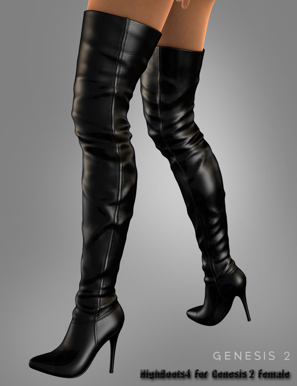 High Boots 4 For Genesis 2 Female(s) by: dx30, 3D Models by Daz 3D