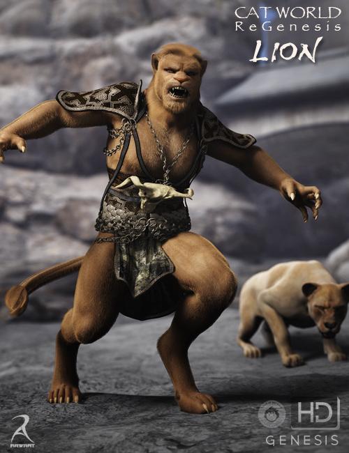 Cat World Regenesis HD - Lion by: RawArt, 3D Models by Daz 3D