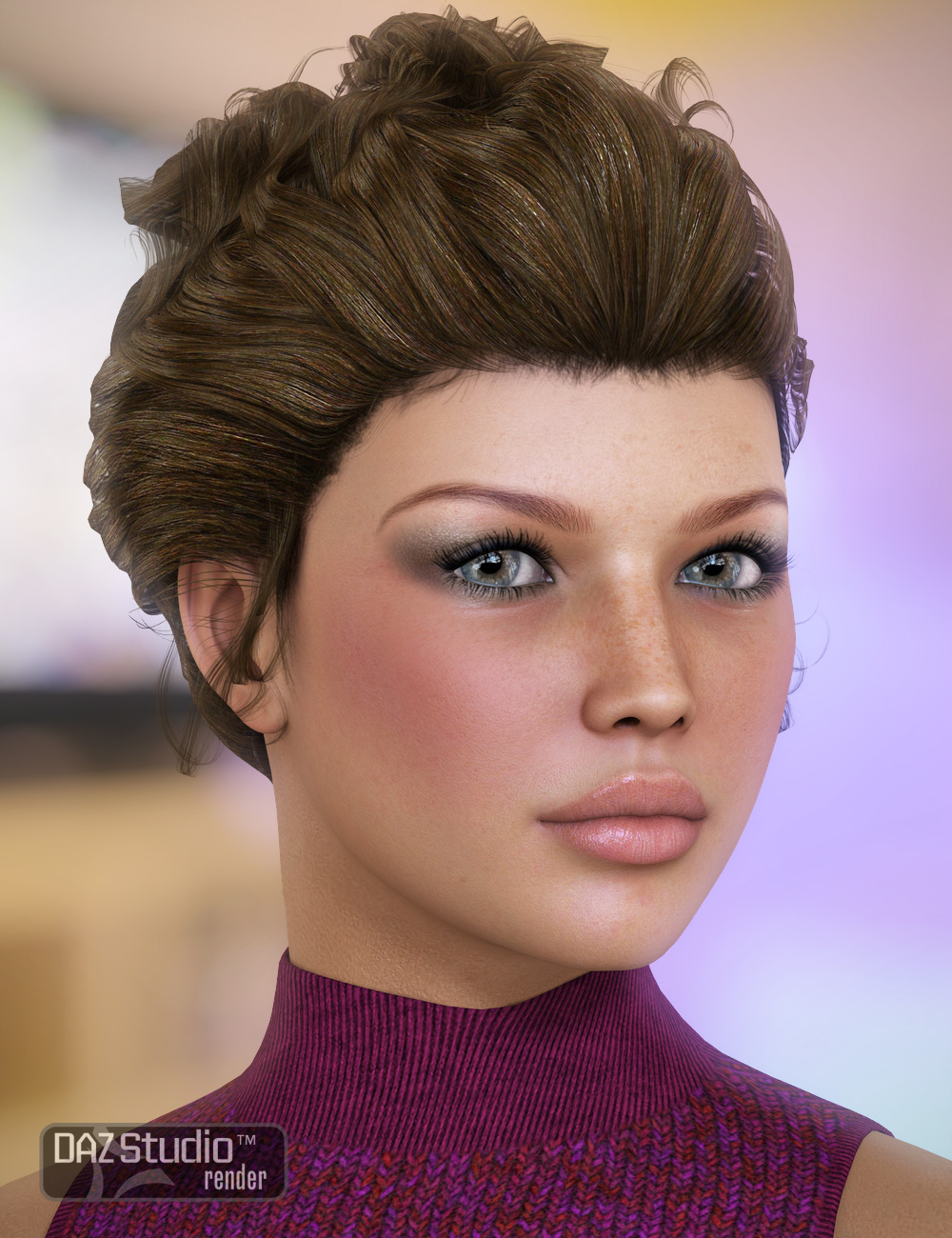 Sultry Hair by: goldtassel, 3D Models by Daz 3D