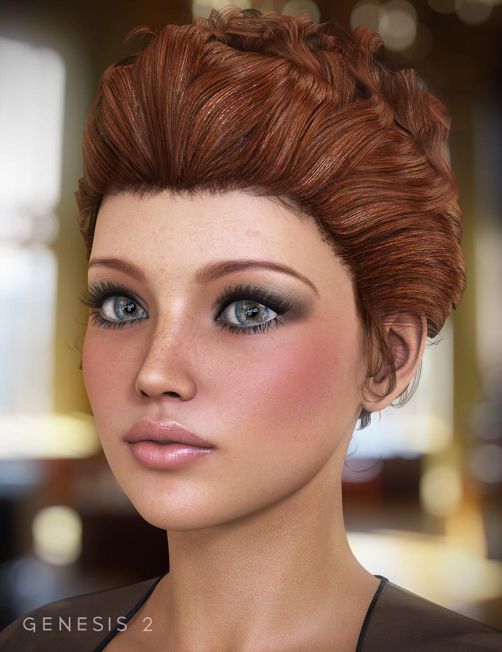 Sultry Hair for Genesis and Genesis 2 Females by: goldtassel, 3D Models by Daz 3D