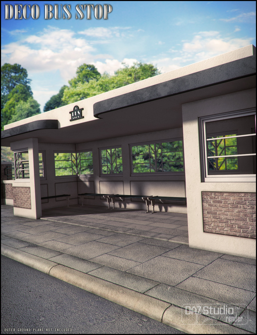 Deco Bus Stop by: Jack Tomalin, 3D Models by Daz 3D