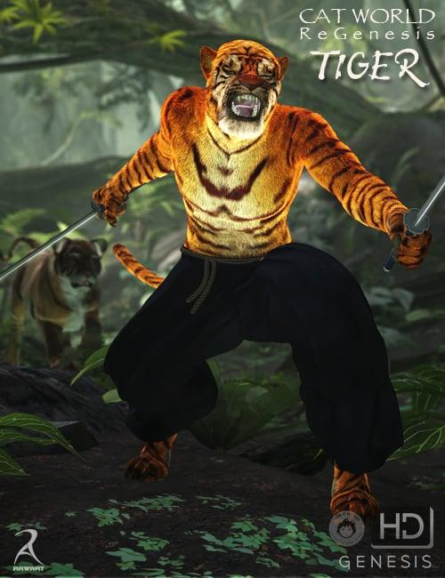 Cat World Regenesis HD - Tiger by: RawArt, 3D Models by Daz 3D