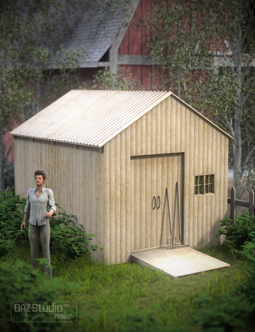 Yard Builder by: ARTCollab, 3D Models by Daz 3D