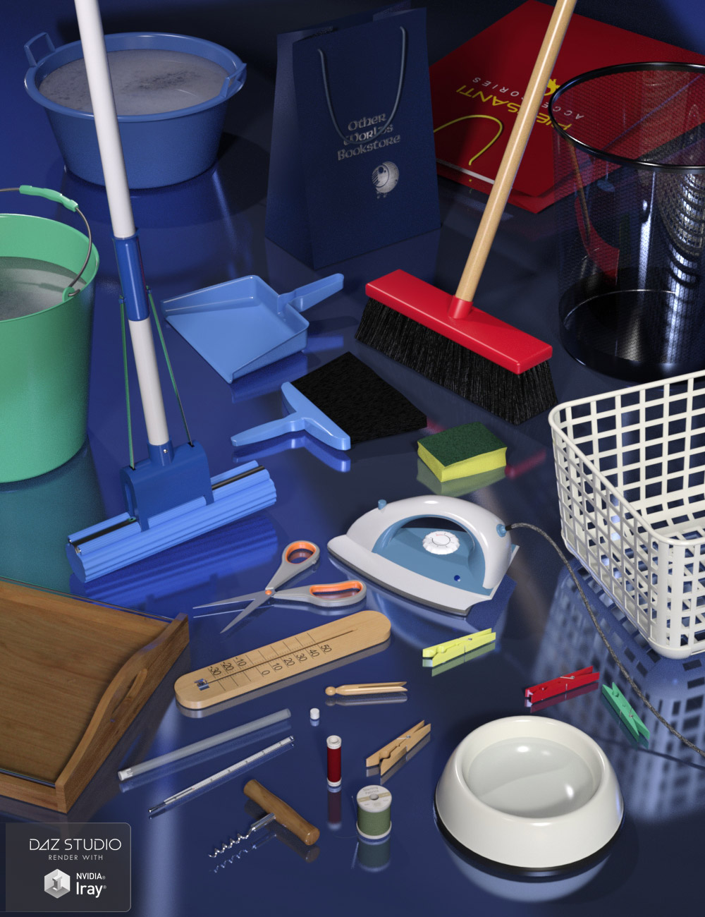 Everyday Household Items by: maclean, 3D Models by Daz 3D
