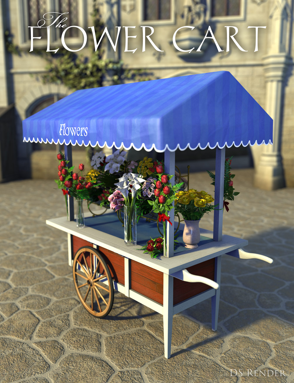 Flower Cart by: Age of Armour, 3D Models by Daz 3D