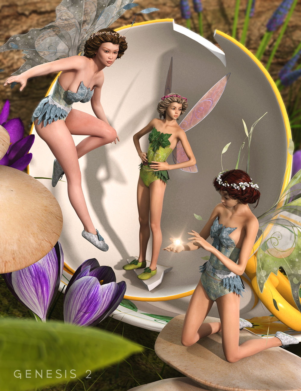 Tea Cup Fairy Poses by: Diane, 3D Models by Daz 3D