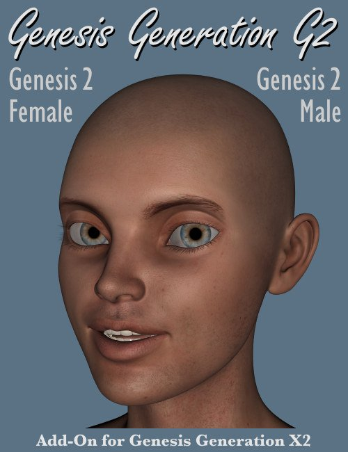 GenX2 AddOn for Genesis 2 by: Dimension3D, 3D Models by Daz 3D