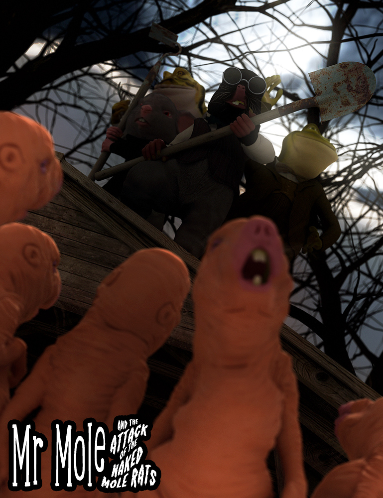Mr Mole and the Attack of the Naked Mole Rats by: JoeQuickGone, 3D Models by Daz 3D