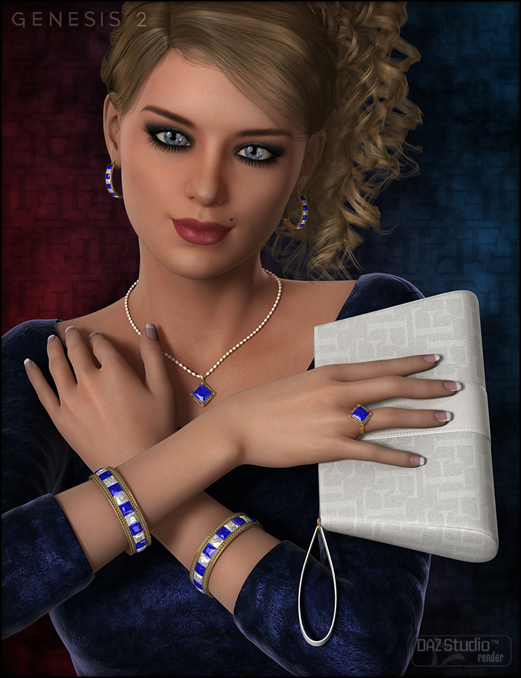 Glamorous Riva Accessories by: Fisty & Darc, 3D Models by Daz 3D