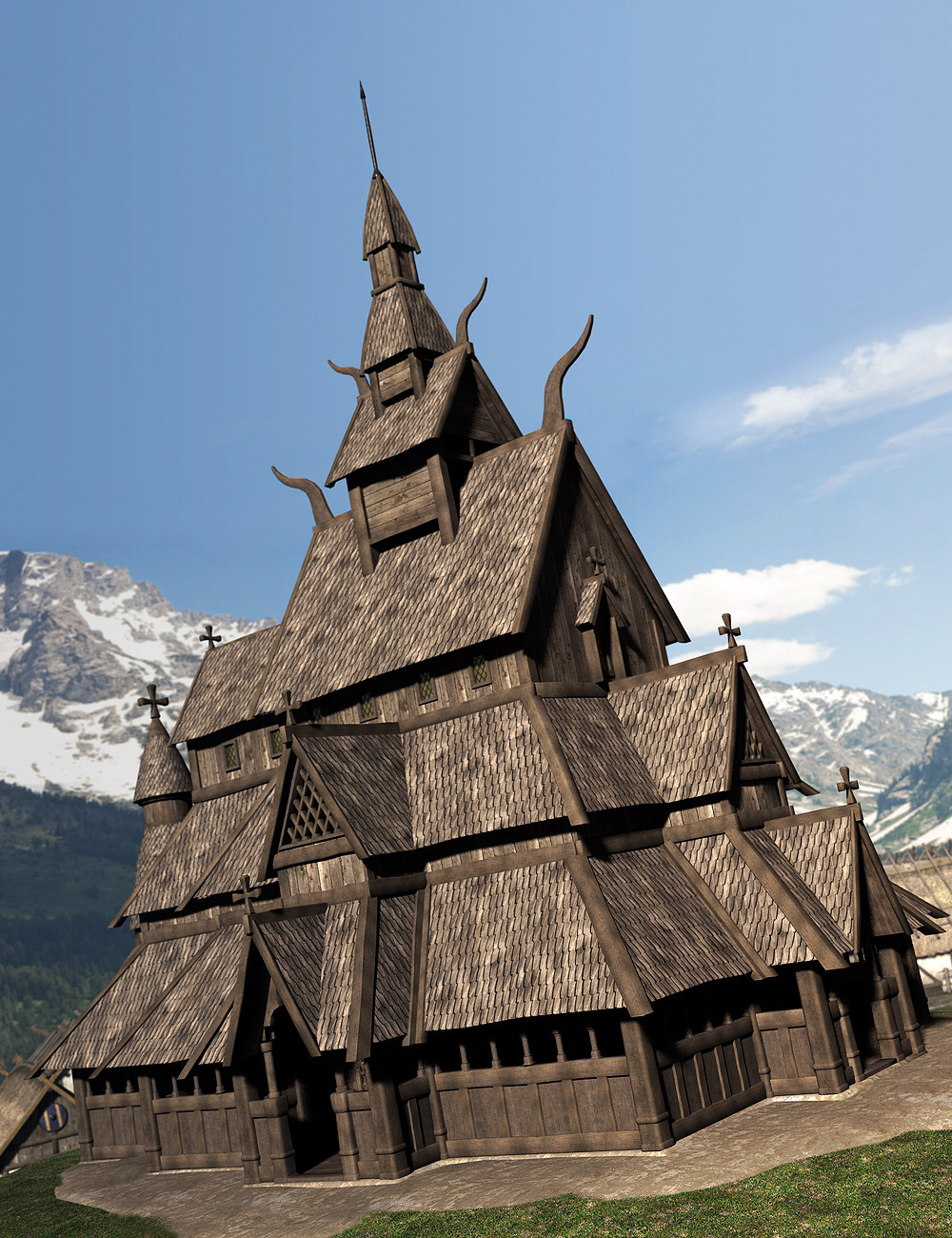 Viking Village by: Faveral, 3D Models by Daz 3D