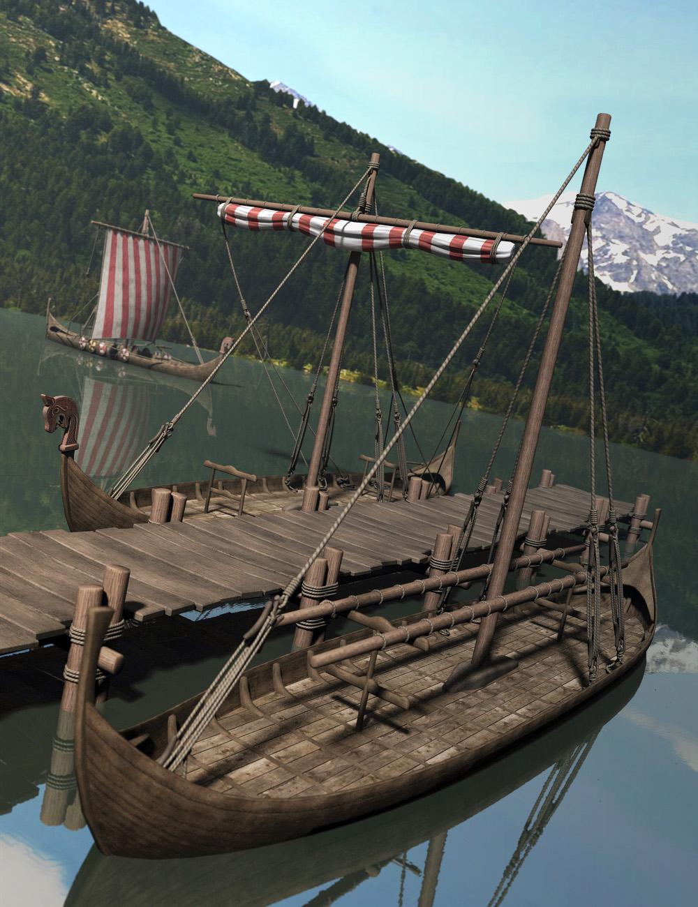Viking Village Props by: Faveral, 3D Models by Daz 3D