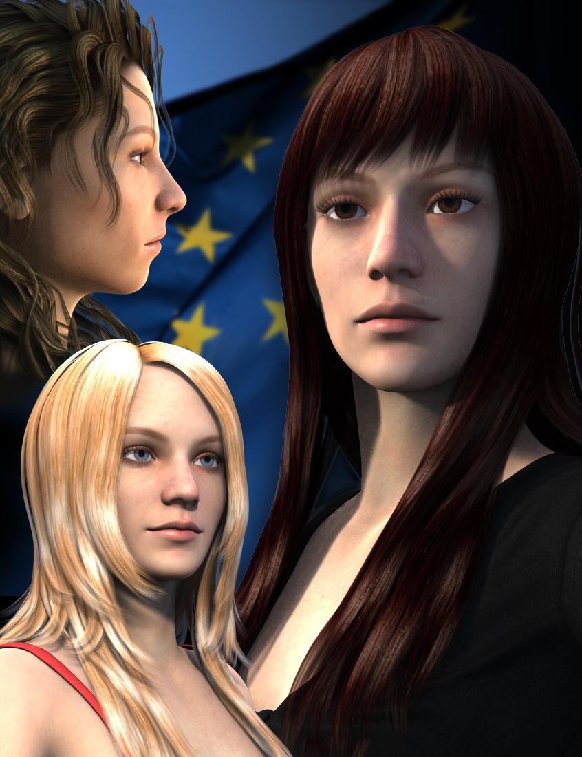 Europe for Genesis 2 Female(s) by: Dogz, 3D Models by Daz 3D