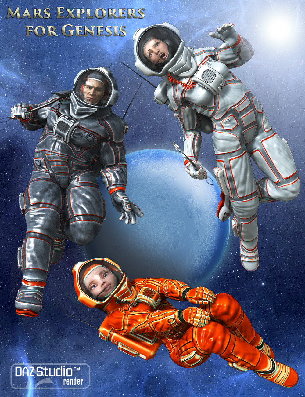 Mars Explorers for Genesis by: midnight_stories, 3D Models by Daz 3D