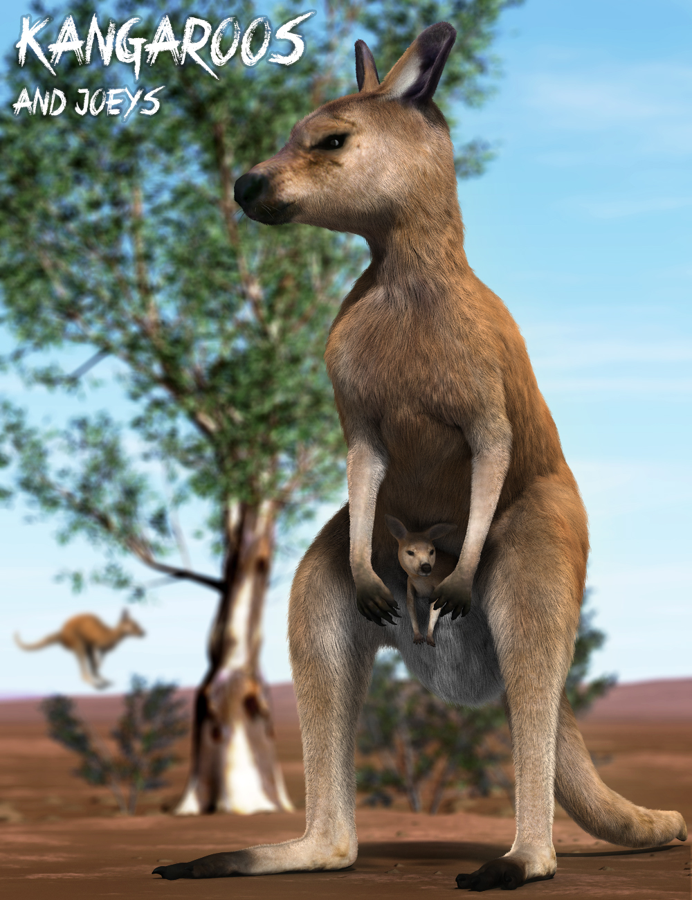 Kangaroos and Joeys by: Alessandro_AM, 3D Models by Daz 3D