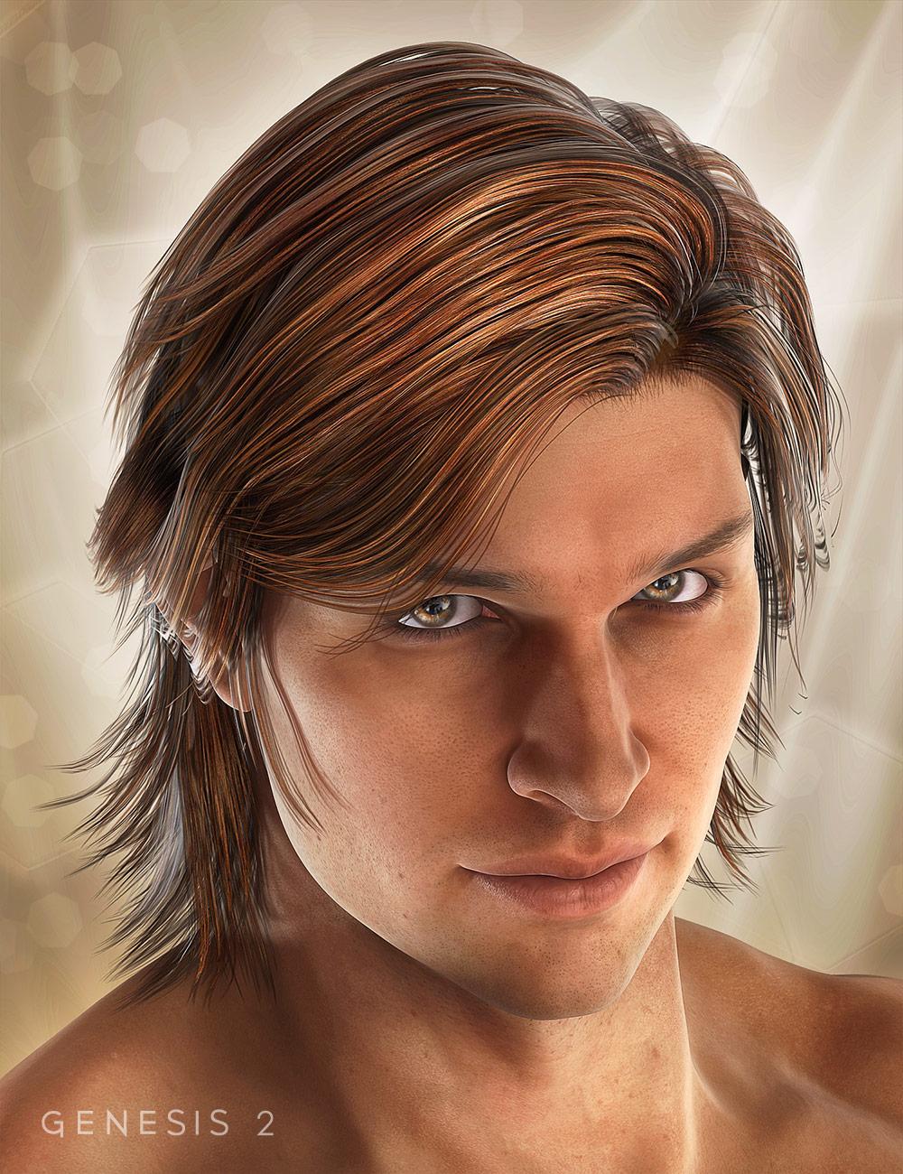 Drifter Hair for Genesis 2 Male(s) by: goldtassel, 3D Models by Daz 3D