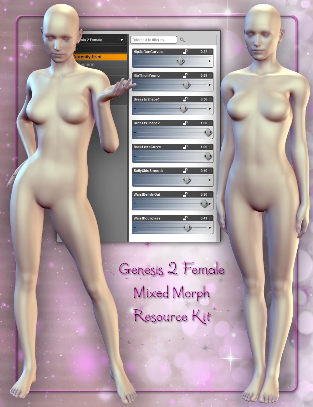 Genesis 2 Female Mixed Morph Resource Kit by: ThorneHandspan Studios, 3D Models by Daz 3D
