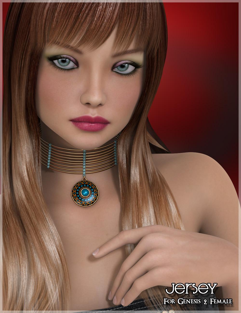 Jersey for Genesis 2 Female(s) by: Belladzines, 3D Models by Daz 3D