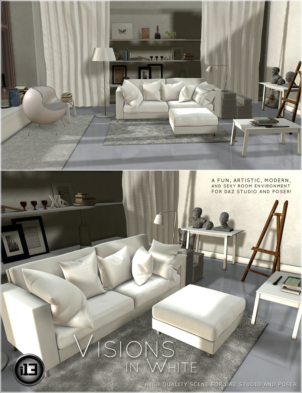 i13 Visions in White by: ironman13, 3D Models by Daz 3D