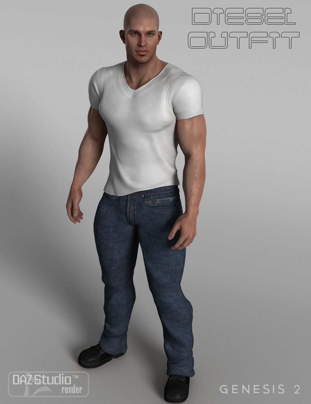 Diesel Outfit for Genesis 2 Male(s) by: Nikisatez, 3D Models by Daz 3D