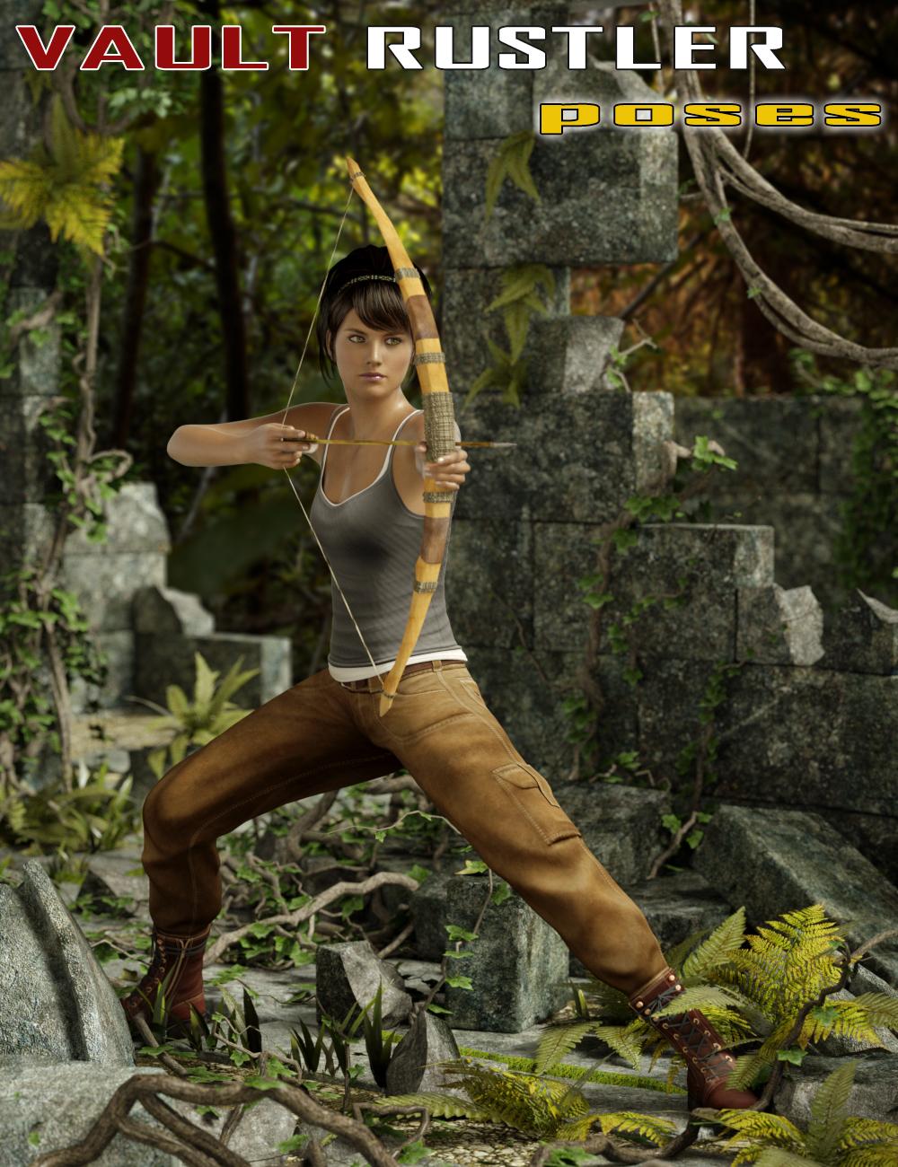 Vault Rustler Poses for Genesis 2 Female(s) by: Slide3D, 3D Models by Daz 3D