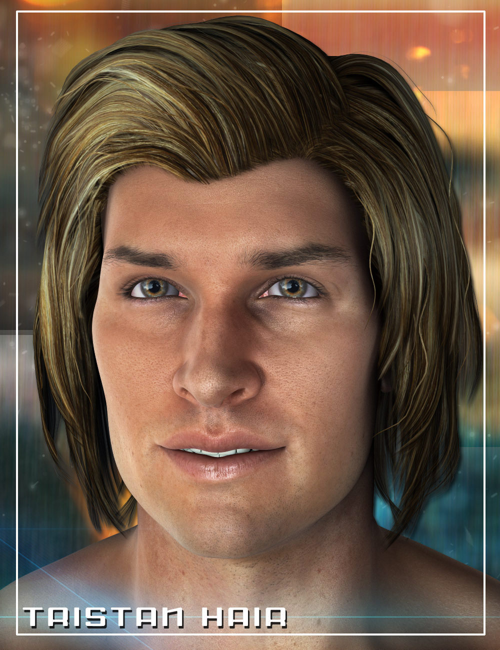 Tristan Hair for Gianni 6 and Genesis 2 Male(s) by: 3DCelebrity, 3D Models by Daz 3D