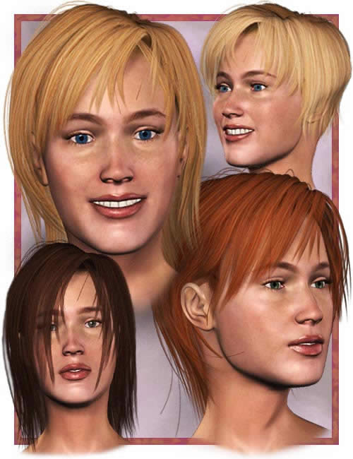 Sassy Hair 2.0 by: , 3D Models by Daz 3D