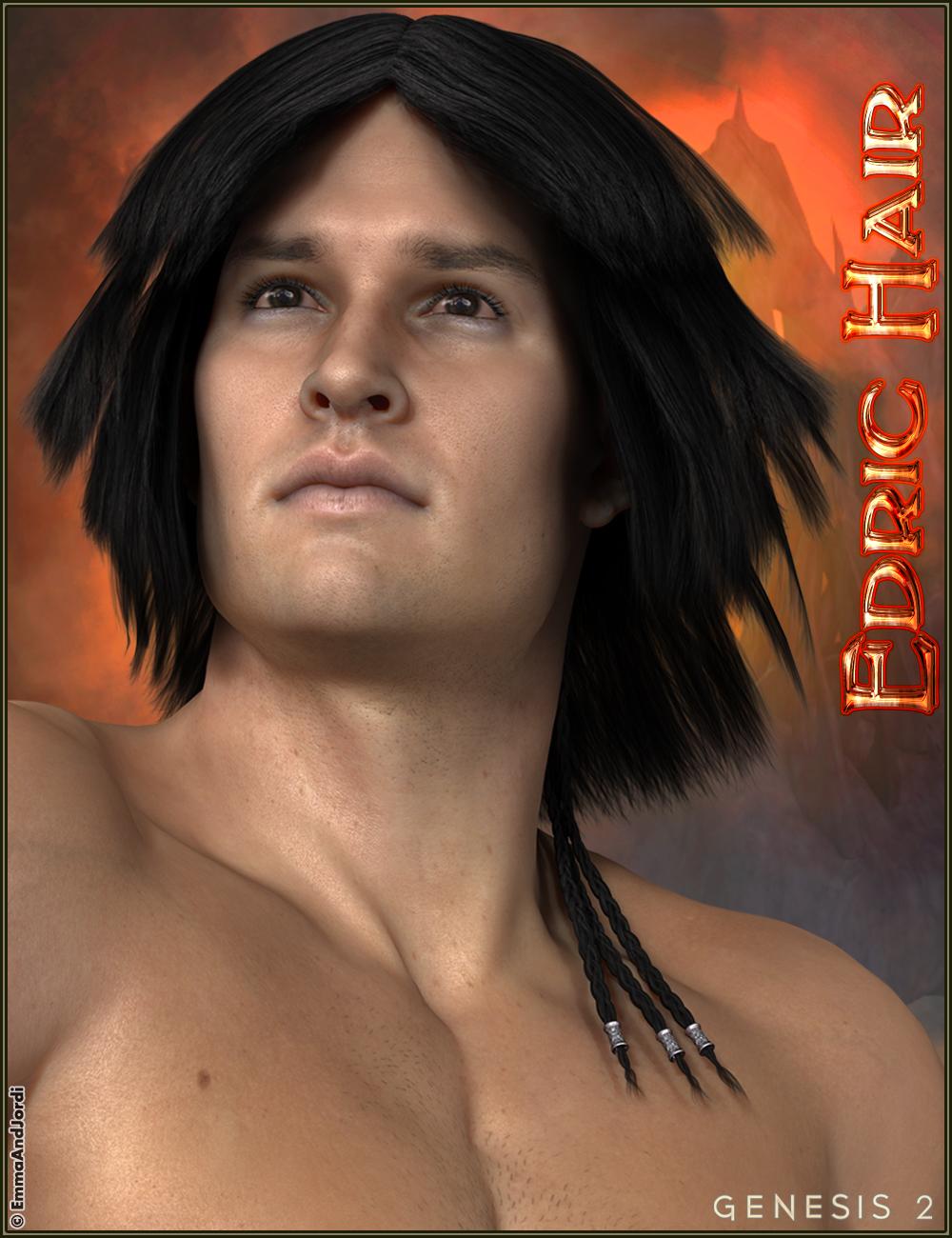 Edric Hair by: EmmaAndJordi, 3D Models by Daz 3D