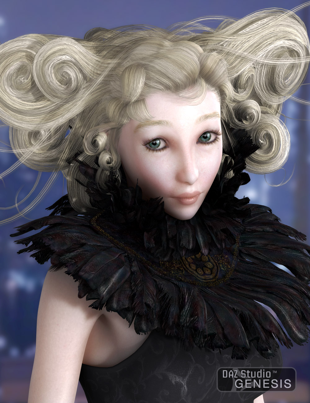 Calais Hair and Ruff 2 by: AprilYSH, 3D Models by Daz 3D