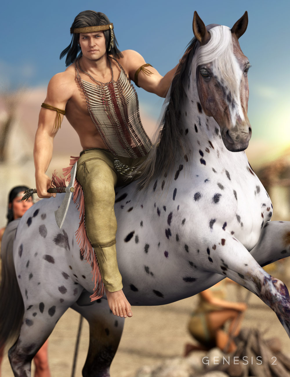 Courageous Warrior for Genesis 2 Male(s) by: Barbara BrundonSarsa, 3D Models by Daz 3D