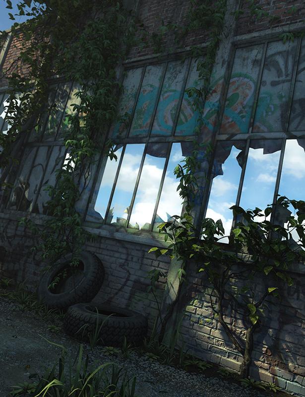 Abandoned Interiors: Warehouse by: Stonemason, 3D Models by Daz 3D