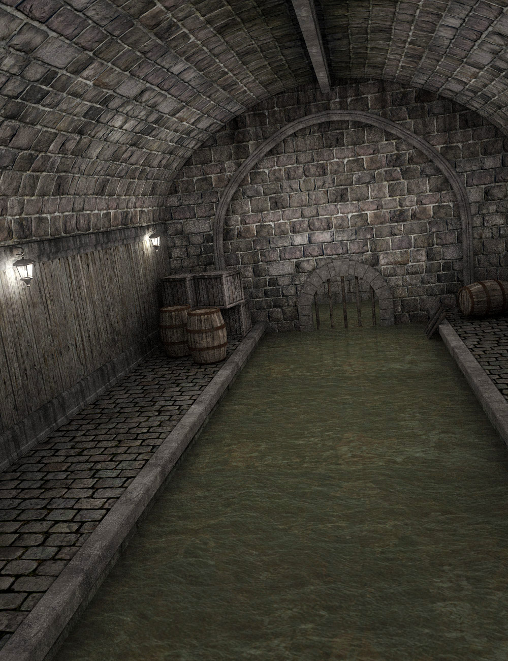 Medieval Sewer by: , 3D Models by Daz 3D