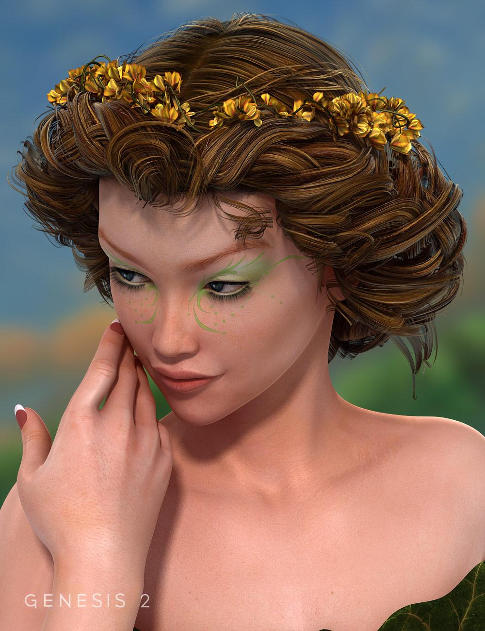 FairyFae Hair for Genesis 2 Female(s) by: goldtassel, 3D Models by Daz 3D