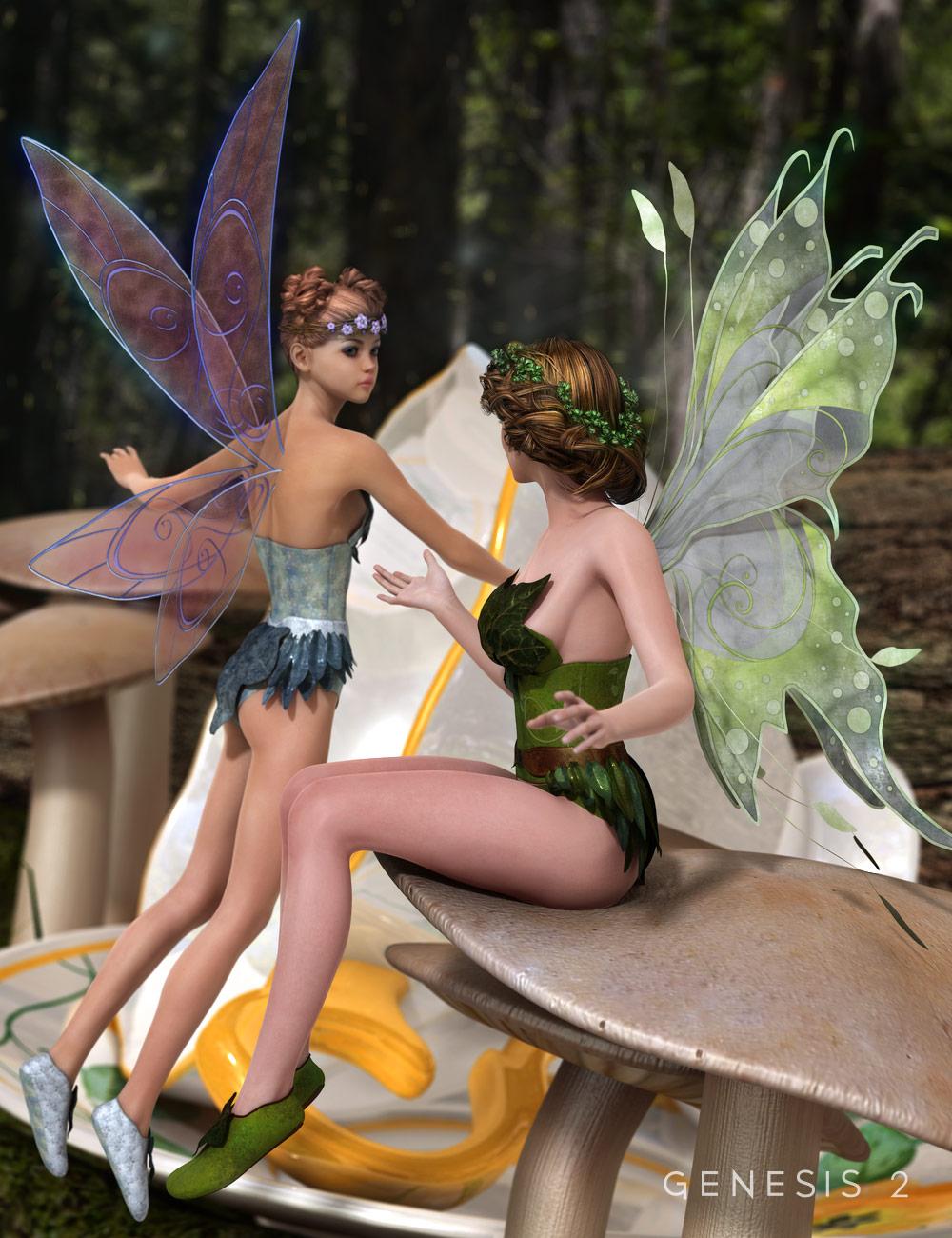 Fluttery Wings for Genesis 2 Female(s) by: Barbara BrundonSarsa, 3D Models by Daz 3D