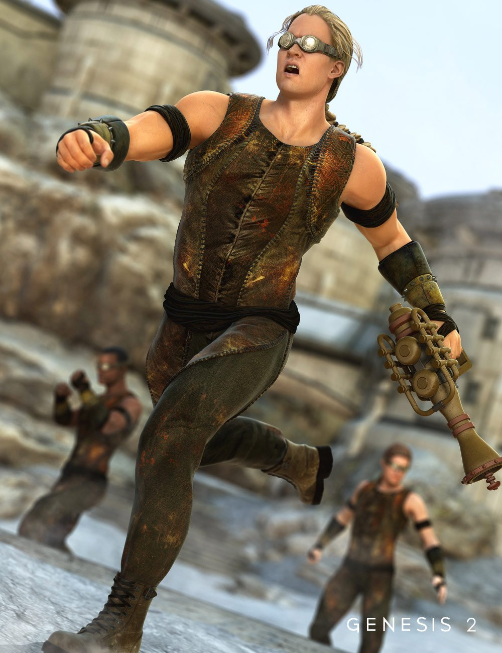 Outpost Mercenary for Genesis 2 Male(s) by: MadaSarsa, 3D Models by Daz 3D
